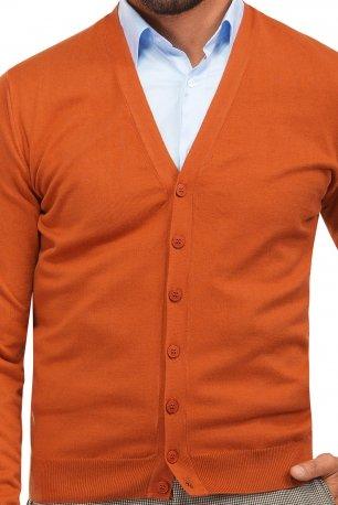 Cardigan slim oranj