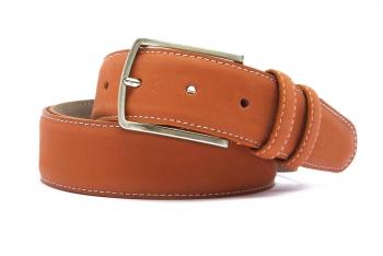Belt Orange Nubuck leather