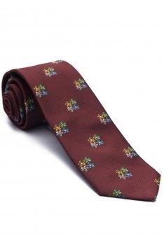 Cravata grena print floral