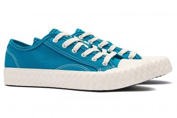 Sneakers Bleu din Bumbac