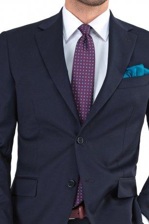 Costum slim conti bleumarin uni