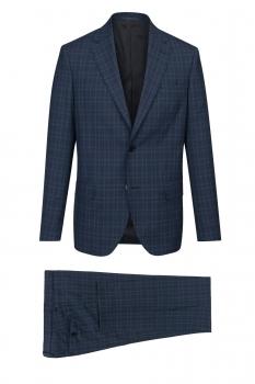 Slim Navy Check Suit