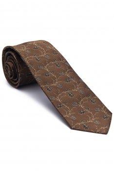 Cravata maro print floral