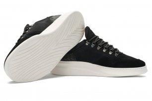 Sneakers negri piele intoarsa
