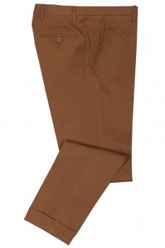 Slim Brown Plain Trouser