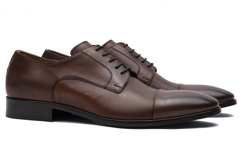 Pantofi maro piele naturala