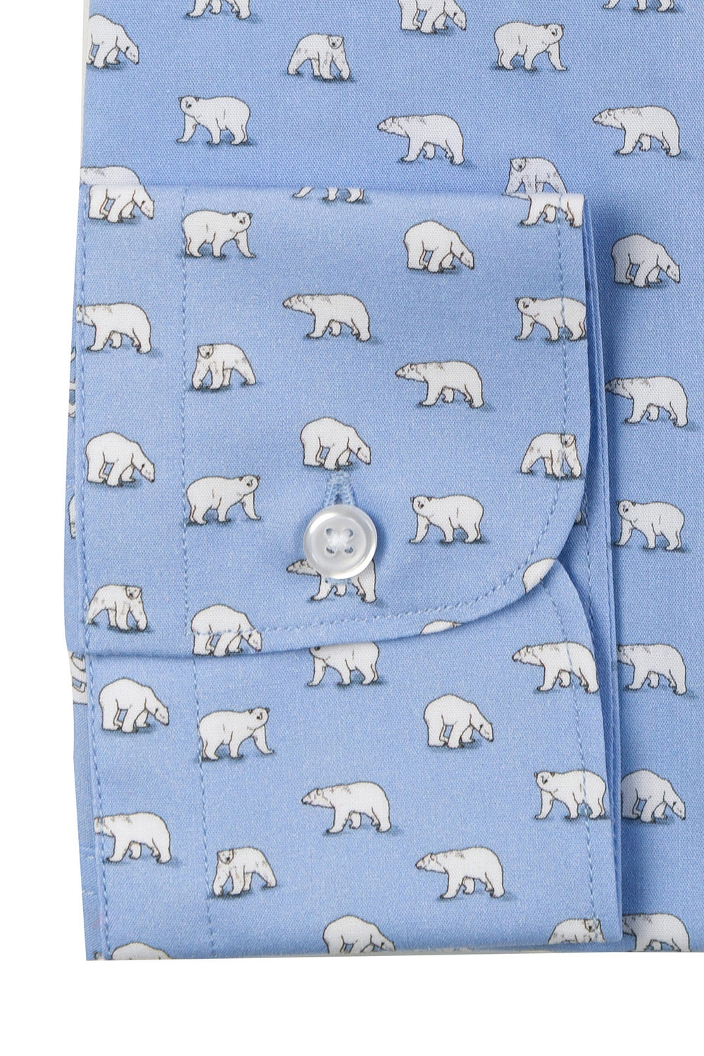 Camasa superslim bleu print geormetric 2