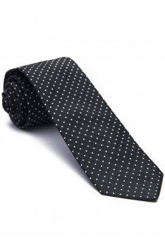 Cravata neagra print geometric