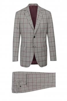 Superslim Grey Check Suit