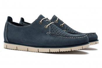 Pantofi Bleumarin Piele nabuc