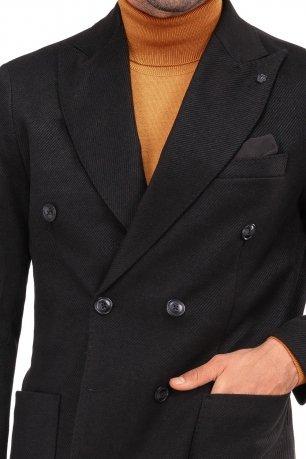 Palton smart casual negru