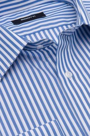 Camasa slim albastra cu dungi