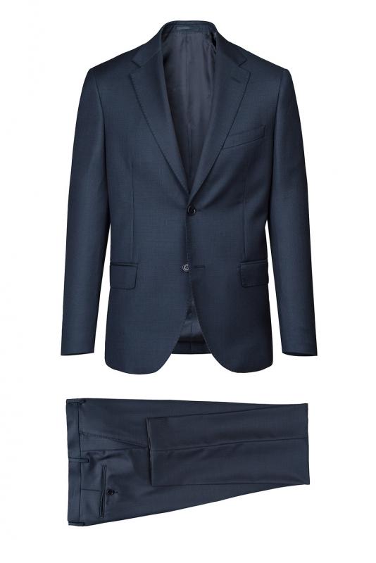 Costum slim conti bleumarin cu structuri
