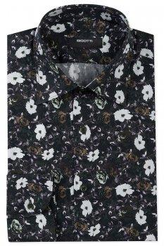 Camasa slim kaki print floral