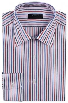Slim body White Stripe Shirt