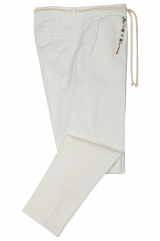 Baggy White Plain Trouser