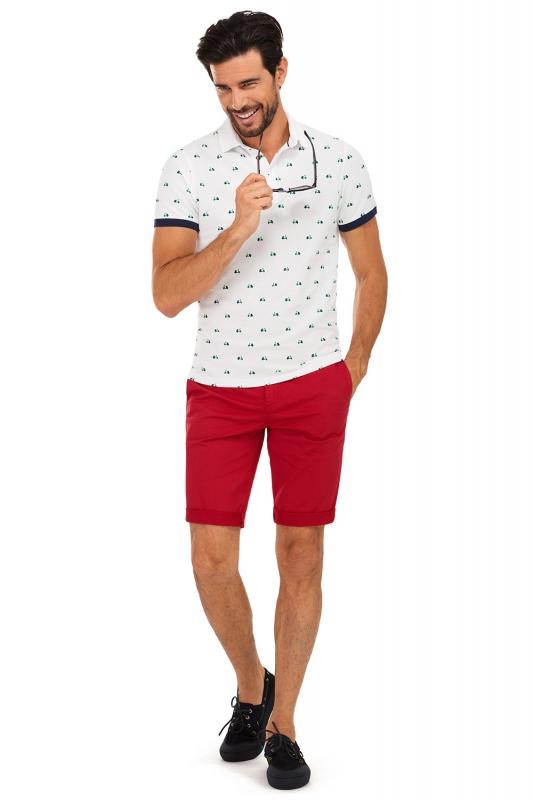 Pantaloni scurti rosii uni