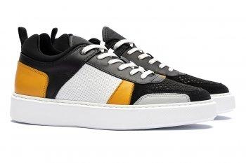 sneakers Multicolori Piele mata, piele intoarsa si textil