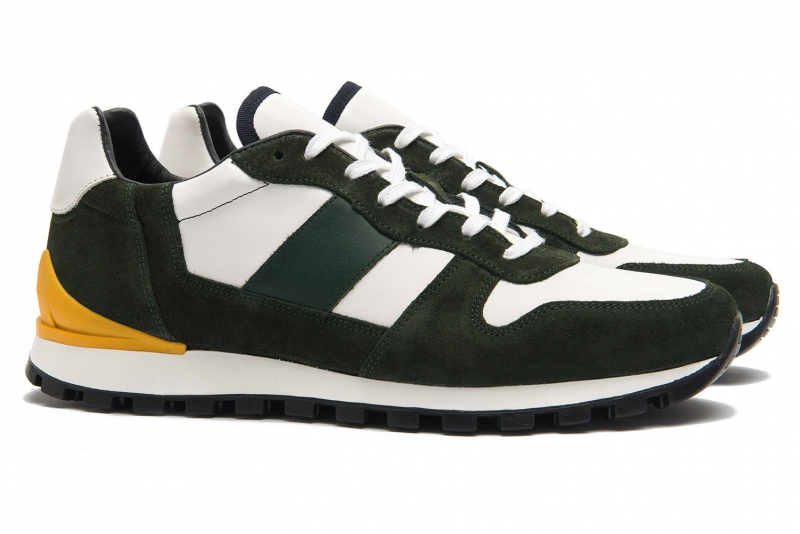 sneakers kaki piele naturala