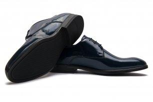 Pantofi ceremonie bleumarin piele naturala