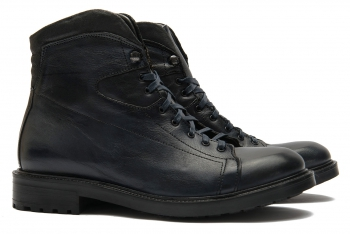 Navy Genuine leather boots