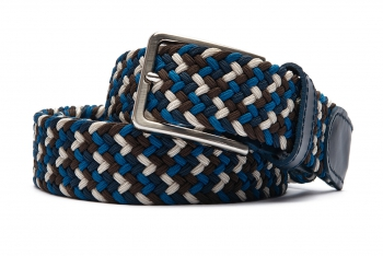 Belt Multi-colored Elastic textile and leather