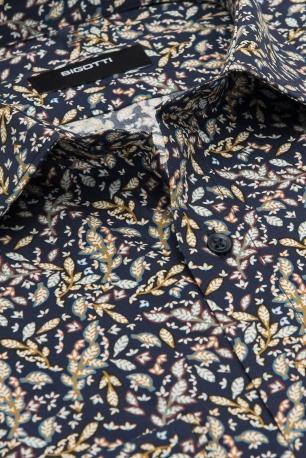 Camasa superslim bleumarin print floral