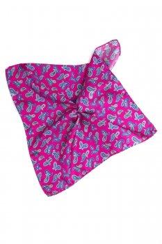 Batista roz print floral matase tesuta