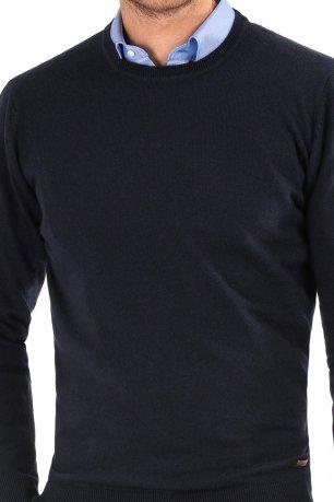 Pulover regular bleumarin uni