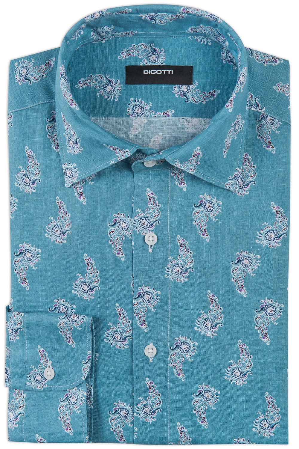 Camasa shaped din in bleu print floral 0