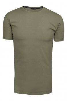 Tricou slim Verde Uni