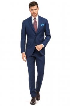 Superslim Blue Plain Suit