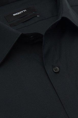Camasa slim neagra uni