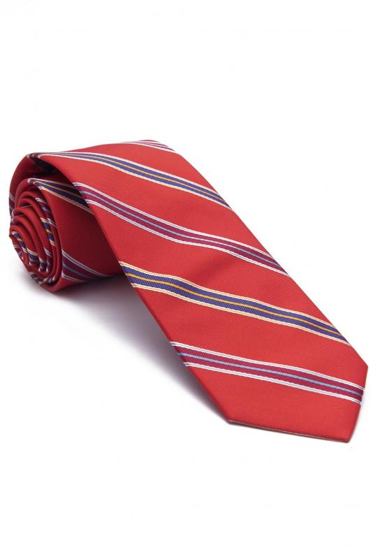 Cravata rosie cu dungi