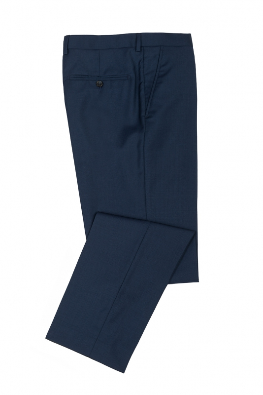 Pantaloni slim erico albastri uni