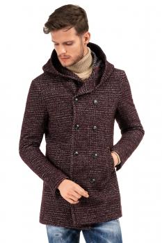 Burgundy Plain Coat