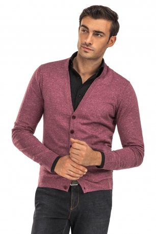 Cardigan slim mov in v