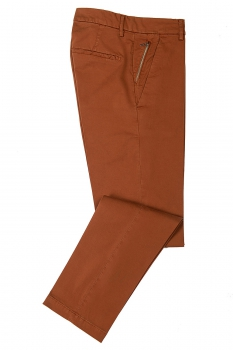 Slim body Brown Plain Trouser