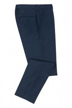 Pantaloni conti slim albastri uni