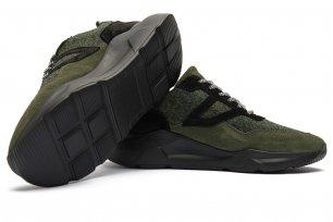 Sneakers gri piele mata, piele lucioasa si textil