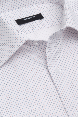 Camasa shaped alba print geometric