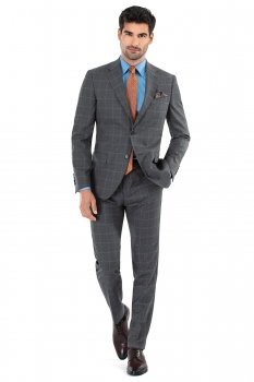 Slim Grey Check Suit