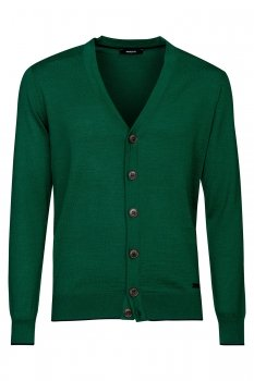 Cardigan Slim Verde uni