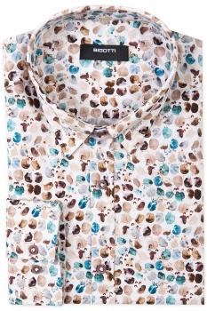 Slim body White Geometric Shirt