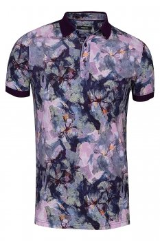 Tricou slim Mov print floral