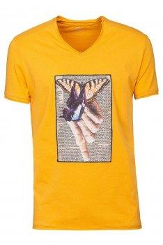 Tricou Galben print