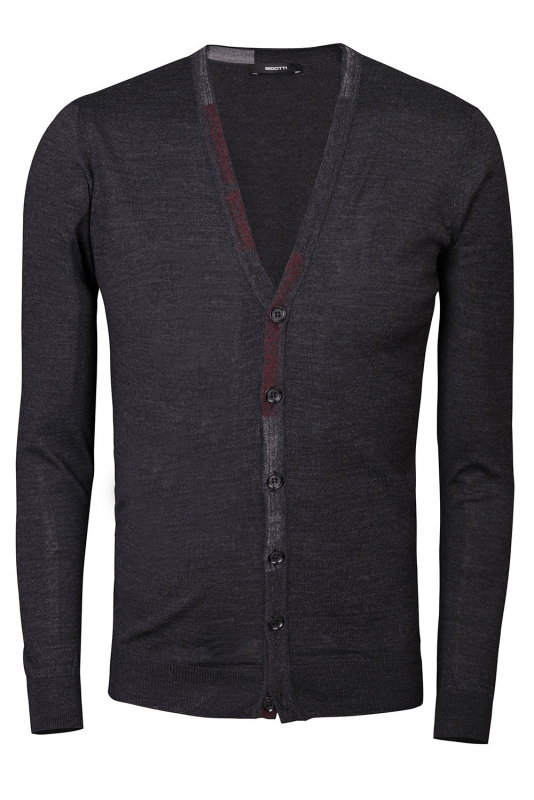 Cardigan regular gri uni