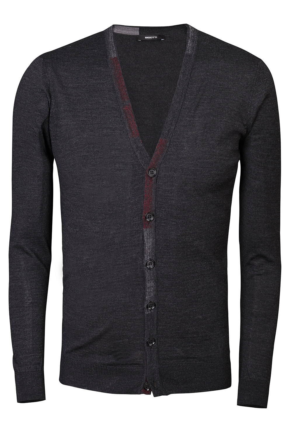 Cardigan regular gri uni 0