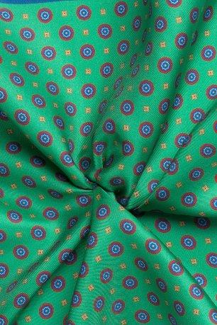 Batista verde print geometric matase tesuta