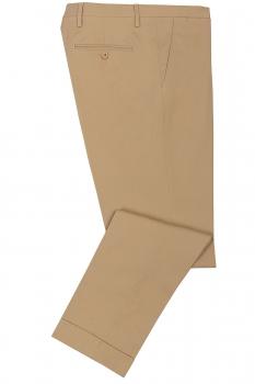 Slim Beige Plain Trouser